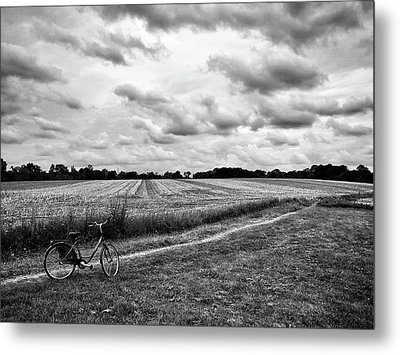 Bike Ride Metal Print by Karen Stahlros