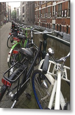 Bikes As Far As The Eye Can See Metal Print by Andy Smy