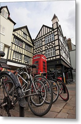 Metal Print featuring the photograph Bikes Galore In Cambridge by Gill Billington