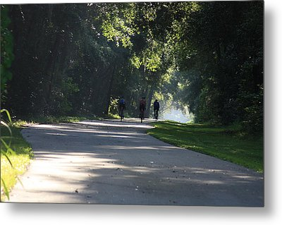 Metal Print featuring the photograph Biking by Michael Albright