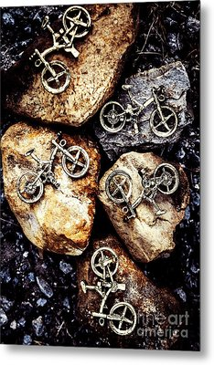 Biking Trail Scene Metal Print