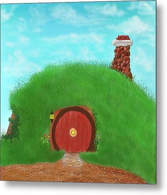 Bilbo's Home In The  Shire Metal Print