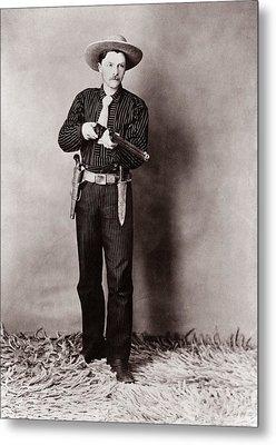 Bill Bennett, Wild West Detective Metal Print by Everett