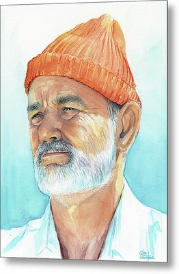 Bill Murray As Steve Zissou Of Life Aquatic Metal Print by Olga Shvartsur