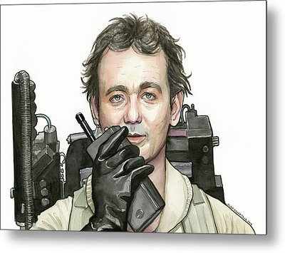 Bill Murray Ghostbusters Peter Venkman Metal Print by Olga Shvartsur