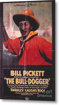 Bill Pickett (1870-1932) Metal Print by Granger