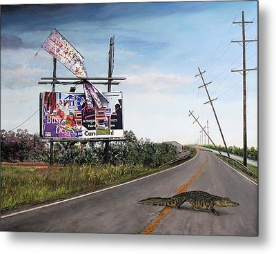 Billboard Thief Metal Print by Richard Barone
