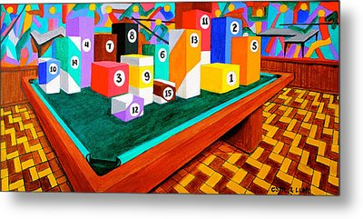 Billiard Table Metal Print
