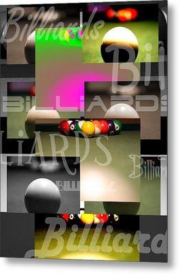 Billiards Metal Print by Andre  Persun