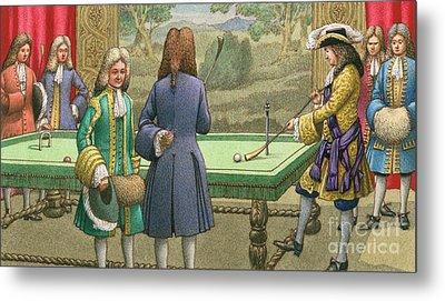 Billiards, As Played By Louis Xiv At Versailles Metal Print