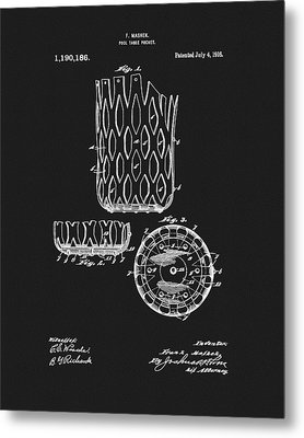 Metal Print featuring the mixed media Billiards Table Pocket Patent by Dan Sproul