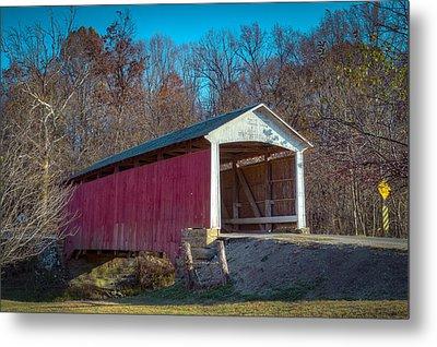 Billie Creek Covered Bridge - 16 Metal Print by Jack R Perry