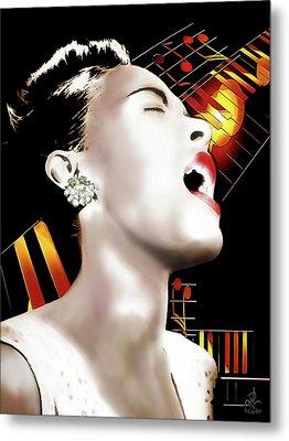 Billie Holiday Metal Print by Pennie McCracken