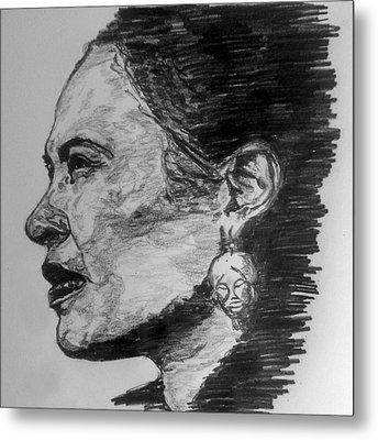 Billie Holiday Metal Print by Rachel Natalie Rawlins
