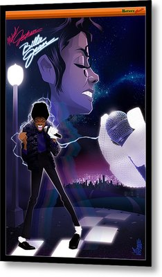 Billie Jean 2 Metal Print