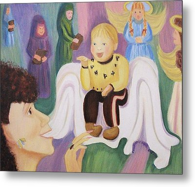 Billy As Baby Jesus Metal Print by Suzanne  Marie Leclair