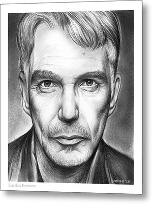Billy Bob Thornton Metal Print by Greg Joens