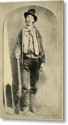 Billy The Kid 1859-81, Killed Twenty Metal Print by Everett