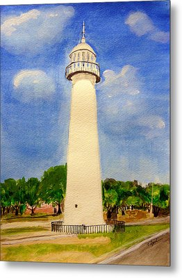 Biloxi Lighthouse Metal Print