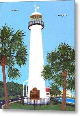 Biloxi Lighthouse Metal Print by Frederic Kohli