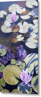 Metal Print featuring the painting Biltmore Lilypads by Robert Decker