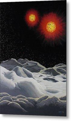 Binary Red Dwarf Stars 2 Metal Print