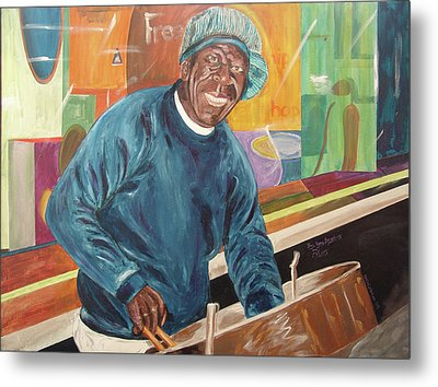 Metal Print featuring the painting Bing Bang Broadway Blues by Kevin Callahan