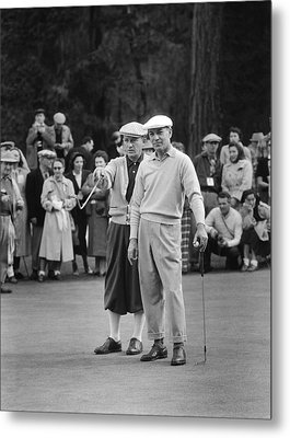 Bing Crosby And Ben Hogan Metal Print