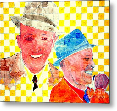 Bing Crosby And Frank Sinatra 1 Metal Print by Richard W Linford