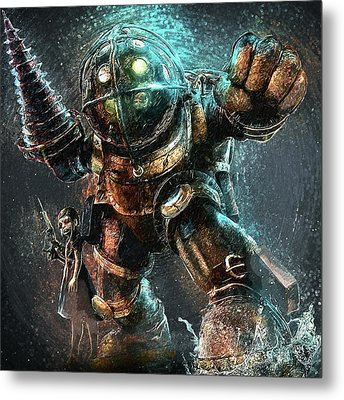 Metal Print featuring the digital art Bioshock by Taylan Apukovska