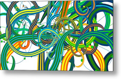 Bipolar Mania Rollercoaster Abstract Metal Print by William Braddock