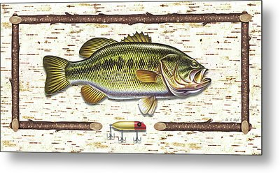 Birch Bass Metal Print by JQ Licensing