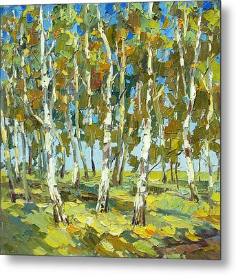 Birch Forest Metal Print by Dmitry Spiros