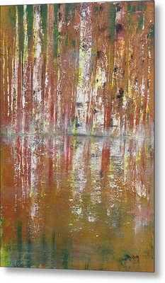 Metal Print featuring the painting Birch In Abstract by Gary Smith