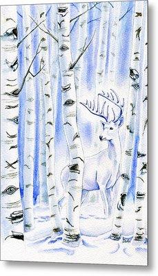 Birch Spirit Metal Print by Antony Galbraith