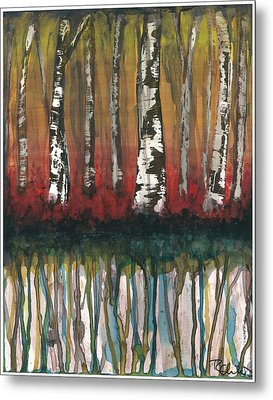 Birch Trees #2 Metal Print by Rebecca Childs