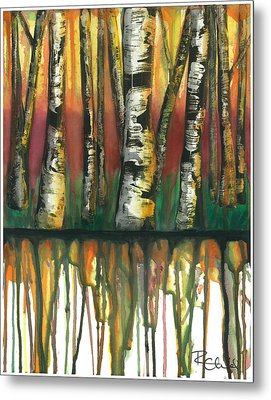 Birch Trees #6 Metal Print by Rebecca Childs