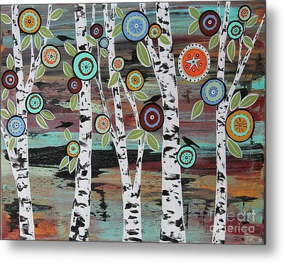 Birch Woods Metal Print by Karla Gerard