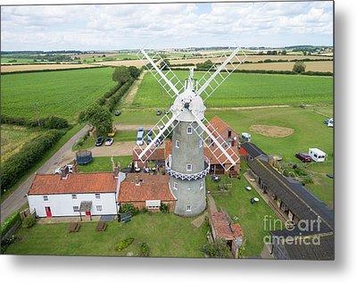 Bircham Windmill Metal Print by Steev Stamford