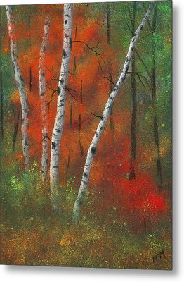 Birches II Metal Print by Garry McMichael