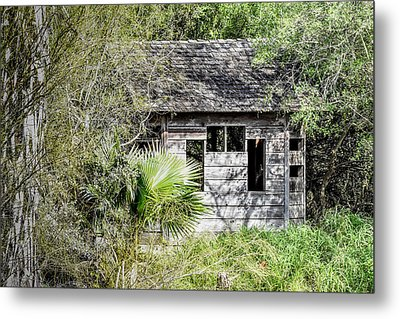 Bird Blind At Frontera Audubon Metal Print