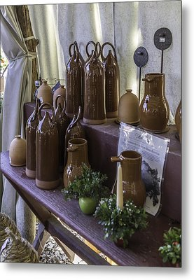 Bird Bottles For Sale Metal Print by Teresa Mucha