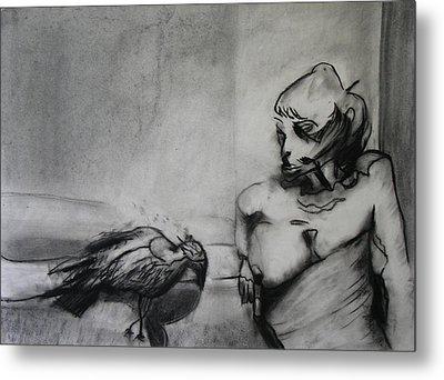 Bird Drama Metal Print