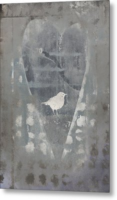 Bird In Heart Metal Print by Carol Leigh