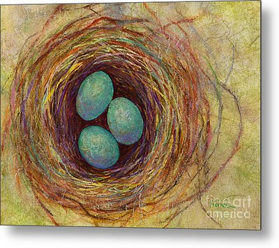 Bird Nest Metal Print by Hailey E Herrera