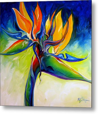 Bird Of Paradise 24 Metal Print by Marcia Baldwin