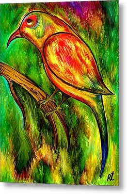 Bird On A Branch Metal Print by Rafi Talby