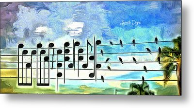 Bird Orchestra - Da Metal Print by Leonardo Digenio