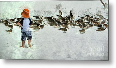 Metal Print featuring the photograph Bird Play by Claire Bull