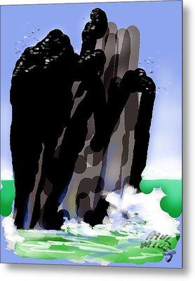 Bird Rock Off Marin Headlands Metal Print